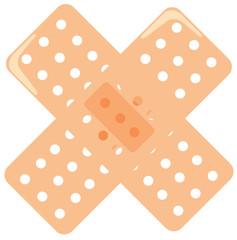 Bandaids in a cross