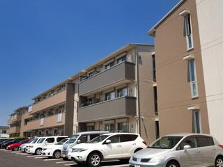Fototapete - 住宅街のアパート