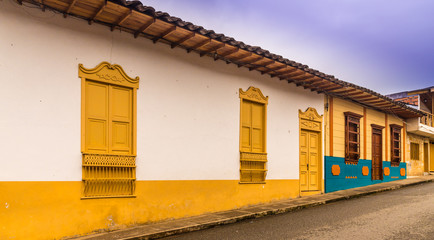 the colorful picturesque town of Jardin in Colombia
