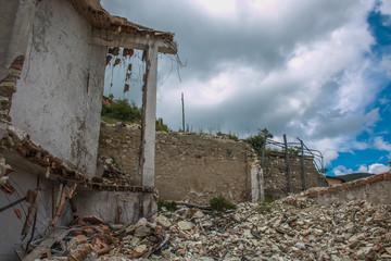 Abitazione distrutta dal terribile terremoto di Norcia