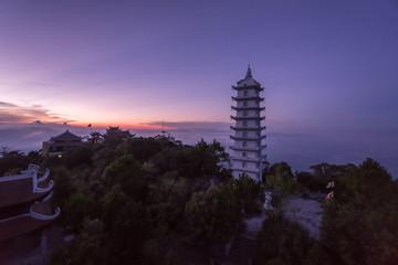 Bana Hills, Danang Vietnam - 22 May 2018: Sunset at Bana Hill Vietnam