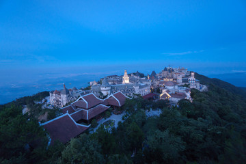 Bana Hills, Danang Vietnam - 22 May 2018: Beautiful Bana hill in Vietnam