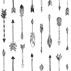 Hand drawn arrows patten