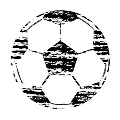 Black and white Stamp football world cup isolated Set On White Background Illustration