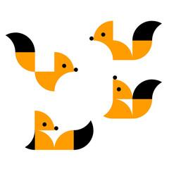Geometric squirrels.  Vector illustration.