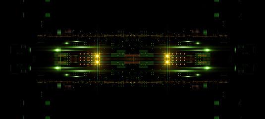 Information CPU engineering..Modern technology. Computer communications. Light effect. Big data center. Blockchain..Super system. Smart core. Research and development. Virtual reality.