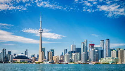 Printed roller blinds Toronto Skyline of Toronto in Canada