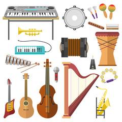 Music studio musical instruments producer record volume tools vector illustration.