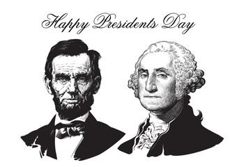Abraham Lincoln and George Washington Fotomurales