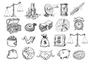 Sketch of business set