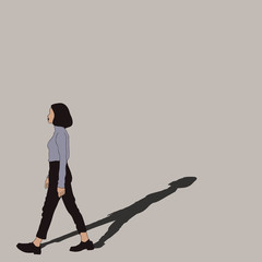 Woman walking