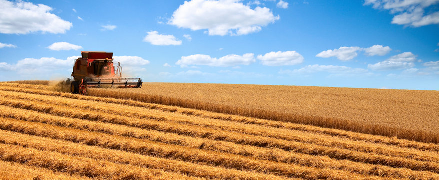 Machine agricole en campagne > France
