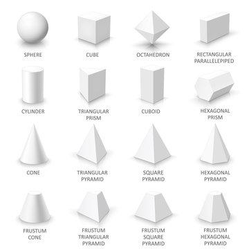 Set of basic 3d shapes