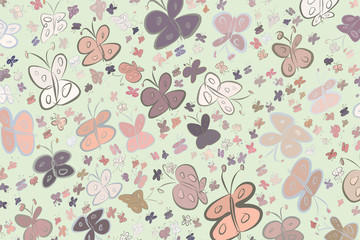 Abstract butterfly illustrations background. Shape, seamless, texture & cover.
