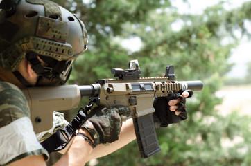 Sniper aim target inside building