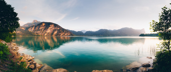 Lake Mondsee in Salzkammergut, Austria