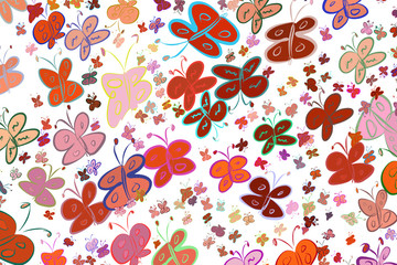 Butterfly illustrations background abstract, hand drawn. Drawing, pattern, creative & surface.