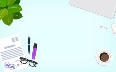 Desktop office vector