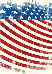 American grunge backround leaflet