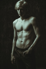 beauty of a male body