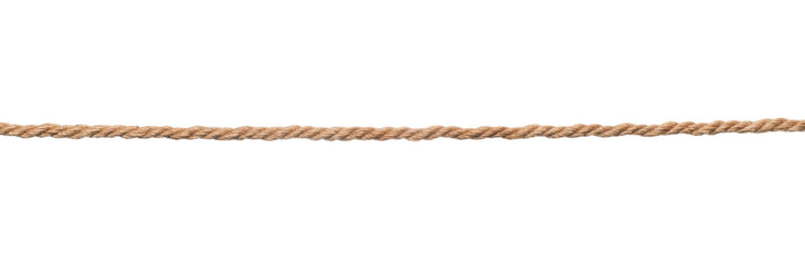 Brown rope isolated
