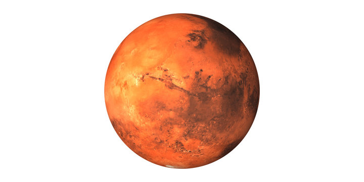 Mars Planet space white background