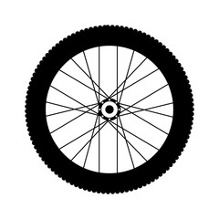 Bike wheel icon