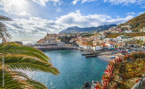 Wall mural Camara de Lobos, panoramic view, Madeira island, Portugal