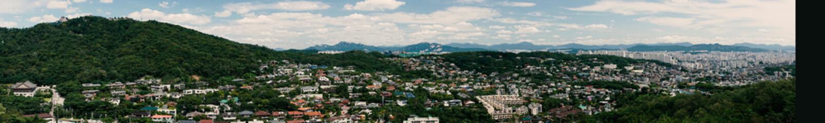 seoul south korea village panorama skyline