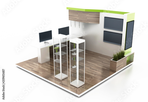 Exhibition Stand 3d Model Free Download : Advertising exhibition stand d mockup royalty free vector