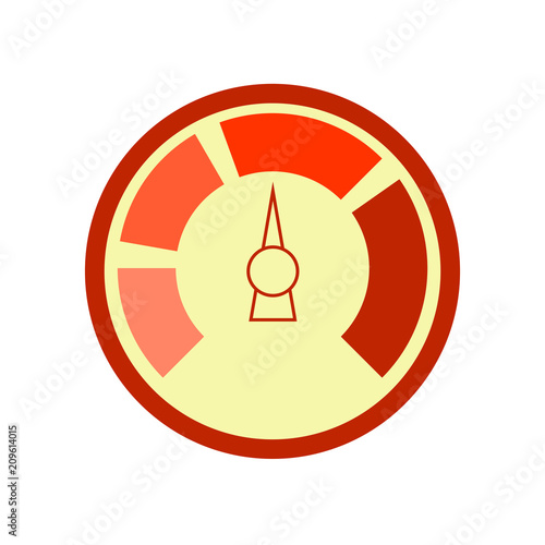 Vector line meter icon. Meter Icon Object. Counter. Vector.\