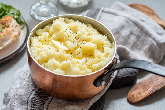 Mashed potato with a butter