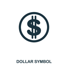 Dollar Symbol icon. Mobile app, printing, web site icon. Simple element sing. Monochrome Dollar Symbol icon illustration.