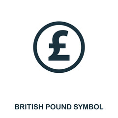 British Pound Symbol icon. Mobile app, printing, web site icon. Simple element sing. Monochrome British Pound Symbol icon illustration.