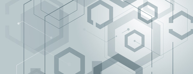 Abstract geometric background with gexagon shapes