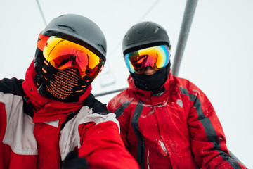 two men in a ski outfit