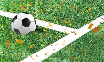 Fussball Konfetti Finale