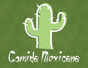 Logotipo catus mexicano comida