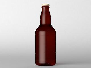 Frontal beer bottle