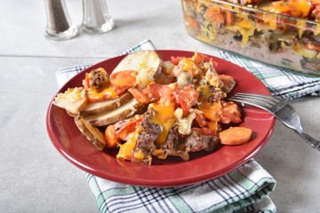 Hamburger vegetable casserole