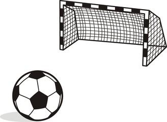 Penalty Kick  Vector Illustration