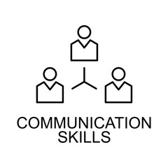communication skills line icon. Element of human resources signs with name for mobile concept and web apps. Thin line communication skills line icon can be used for web and mobile
