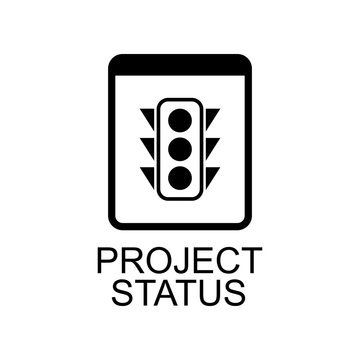 project status icon. Element of Software development signs with name for mobile concept and web apps. Detailed project status icon can be used for web and mobile