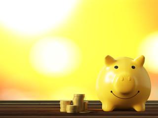 piggy bank gold color