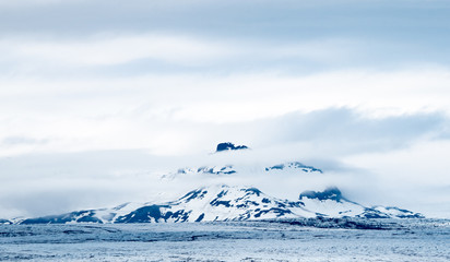 Mountain and glacier in Iceland