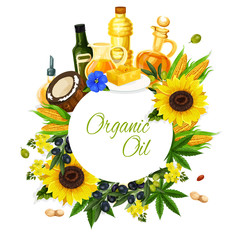 Olive, sunflower, corn and coconut oil label