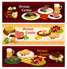German cuisine restaurant banner for menu design