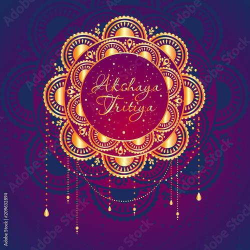 Indian Religious Festival Akshaya Tritiya Background Template Design