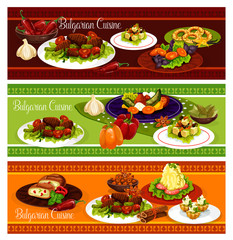 Bulgarian cuisine restaurant banner of lunch menu
