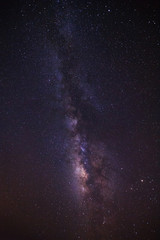 milky way galaxy and space dust in the universe, Long exposure photograph, with grain.